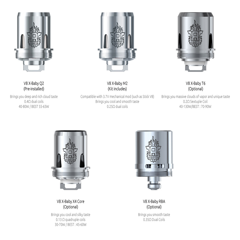 Smok Tfv8 X Baby Replacement Coils Vapor Invasion San